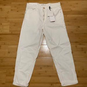 white mom jeans
